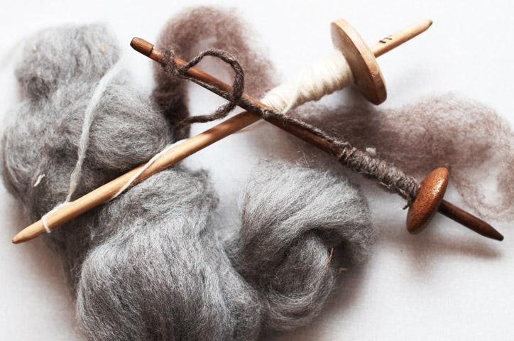 fleece-drop-spindle